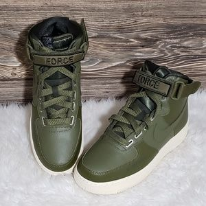 New Nike Air Force 1 High Utility Green Sneakers